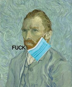 'Funny van gogh face mask fuck' by handcraftline Framed Prints, Canvas Prints, Art Prints, Wood Print, Van Gogh, Face, Funny, Awesome Stuff, Laughing
