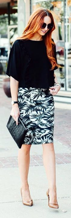 Gorgeous Skirt Work Outfits For Office Women (14)
