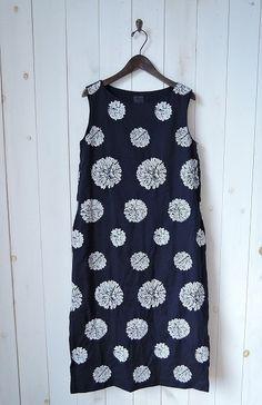 ミナペルホネン mina perhonen forest dot 刺繍ワンピース size36 (4-1608-63) /ナチュラル服古着通販drop