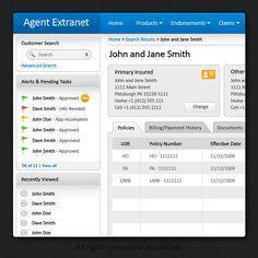 JarusTech, U.S.   Insurance Solutions (web app UI design)