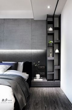 Trendy bedroom black and white gray Ideas Room, Home, Room Interior, Bedroom Design, Bedroom Hotel, Luxurious Bedrooms, Minimalist Bedroom, Modern Bedroom, Trendy Bedroom
