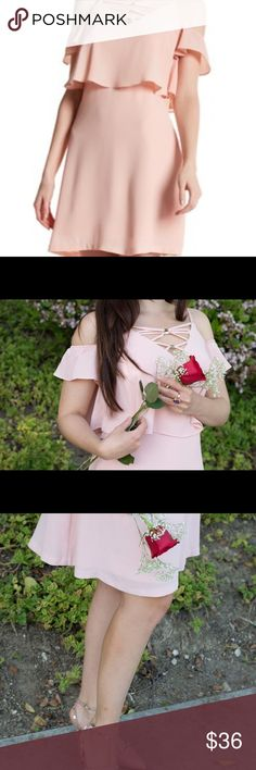 Jessica Simpson blush pink dress! So gorgeous! Lovely blush pink dress! Jessica Simpson Dresses Midi
