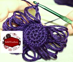 Broomstick Lace Tutorial - crocheting broomstick lace in the round, free photo tutorial by KatiDCreations
