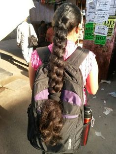 Picssr: indian braided hair's most interesting photos Beautiful Braids, Beautiful Long Hair, Gorgeous Hair, Ponytail Hairstyles, Pretty Hairstyles, Indian Hairstyles, Braids For Long Hair, Braid Hair, Long Indian Hair