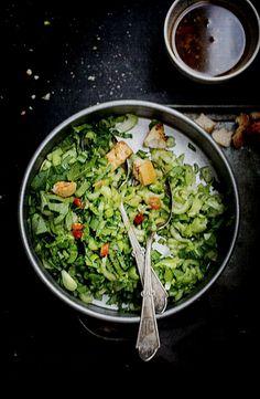 Bok Choy Salad with Sweet Ginger Dressing @Reem   Simply Reem