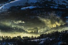 Winter morning by Kalmar Zoltan on Wild Hunt, Romania, Northern Lights, Clouds, Winter, Nature, Travel, Outdoor, Mood