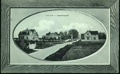 "Telemark fylke Skien. ""Rammemotiv"" Heselbergaden Utg A. Ørmen, postgått 1916,"