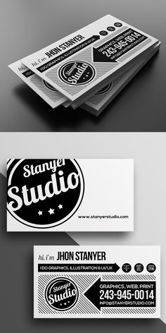 Agency/Studio Business Card Template #businesscards #visitingcards #printtemplates