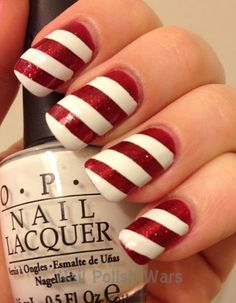 Happy Holidays Nail Art