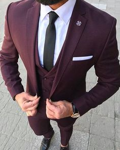 burgundy suit men prom - burgundy suit men - burgundy suit - burgundy suit wedding - burgundy suit men wedding - burgundy suit men prom - burgundy suits for men - burgundy suit men outfits - burgundy suit wedding groom attire Mens Fashion Suits, Mens Suits, Suit Men, Fashion Hats, Fashion Clothes, Terno Slim Fit, Man Street Style, Stylish Men, Dress Outfits