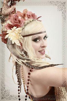 tribal fusion bellydance-beautiful headdress