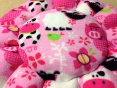 Mini pig flower petal bed for a mini pig, dog, cat