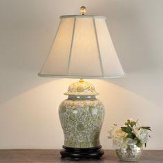 Clic Ginger Jar Table Lamp30 High Lamp Jars Pretty Green