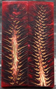 Red Pine Cone Handle Material Knife Scales von ExoticKnifeHandles