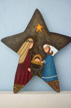 Ideas Diy Christmas Decorations For Outside Nativity For 2019 Christmas Wood, Christmas Star, Country Christmas, Christmas Projects, Christmas Holidays, Christmas Ornaments, Christmas Nativity Scene, Nativity Crafts, Holiday Crafts