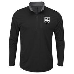 Los Angeles Kings Majestic Good Work Half-Zip Pullover Jacket - Black