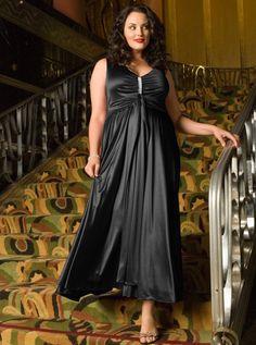 Siyah büyük beden abiye elbise