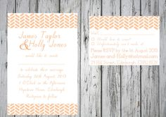Chevron Wedding Invitation Sets   By Paper Delights www.weddingstationery.co.uk
