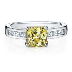 Love this Diamonvita® Yellow Center Stone Simulated Diamond Rings ebc7ce3c50e7
