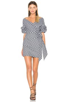 FAME AND PARTNERS X REVOLVE Russo Mini Dress in Black Gingham | REVOLVE