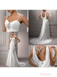 Designer Backless Wedding Dresses | ... Backless Beaded Ruched Chiffon Wedding Dress/Designer Bridal Gowns