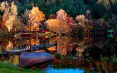 autumn lake splendor
