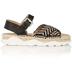Stella McCartney Women's Woven Espadrille Sandals featuring polyvore, women's fashion, shoes, sandals, braided strap sandals, stella mccartney sandals, open toe slingback, crisscross sandals and slingback shoes