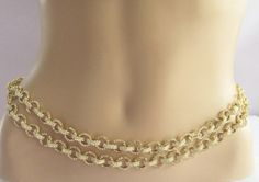 Wedding Rhinestones Gold Belly Chain/Couture Belt by Beauteshoppe