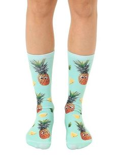 3745795dda1 Googly Pineapple Socks Unisex Knee High Sock