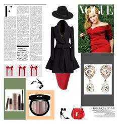 """Red Skirt"" by mandeerose ❤ liked on Polyvore featuring Off-White, Lack of Color, Nicki Minaj, La Femme, Edward Bess, Laura Mercier and Dolce&Gabbana"
