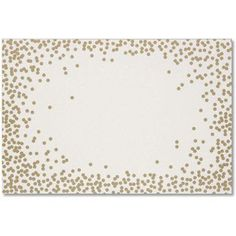 Gold Confetti Paper Placemats From Anthro