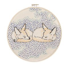 How Foxes Dreamed the World into Being embroidery kit from Studio MME