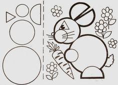 Vejam só que legal estes animais feitos a partir de figuras geométricas. Fonte: http://blogcantinhoalternati...