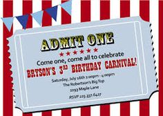 circus theme party printables - yahoo image search results, Party invitations