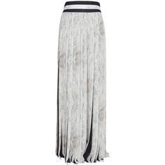 KENZO Pleated Maxi Skirt ($1,963) ❤ liked on Polyvore