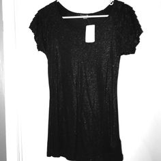 Black Sparkle Top with Tags Black Sparkle Top with tags.  Never worn Forever 21 Tops Blouses