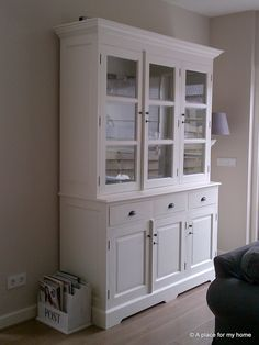 Buffetkast wit, wonen China Cabinet, Indoor, Living Room, Storage, Chalk Paint, Feels, Furniture, Home Decor, Closets
