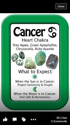 Gemstones for astrological sign Cancer