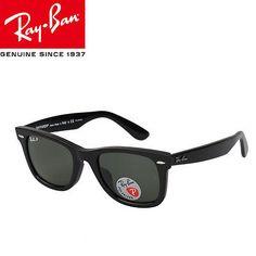 Ray Ban RB 2140 901 52mm Black Green Classic Original Wayfarer Unisex Sunglasses