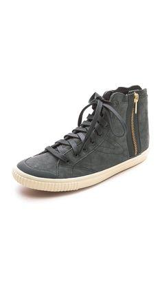 Tretorn Sesksti Suede High Top Sneakers