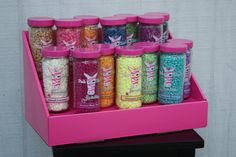 """Spruce up your Pink Zebra vendor table with Stack Displays! Gives your product more visibility by placing it on different levels! 2 tiered 14"""" wide x 8"""" deep x 8"""" high. each shelf is 4"""" deep!"""