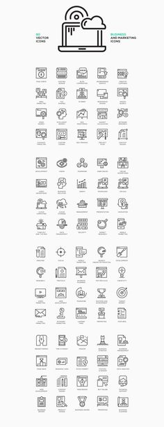 80 Business Concept Line Icons on Behance: