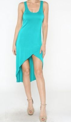 Secret Drape Teal Forever Free High Low Midi Maxi Fitted Sexy Skirt Urban Dress