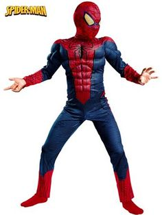 Boys Spiderman Movie Classic Muscle | Wholesale Avengers Halloween Costumes for Boys Costumes