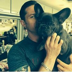 Tom Hardy. Even though less than half of his face shows, THIS pic made me fall in love all over again. He's beautiful
