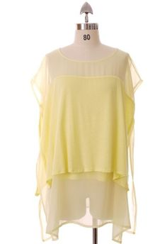 Triple Layers Tulle Tunic in Lemon by Chic+