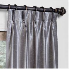 Vintage Textured Faux Dupioni Blackout Single Curtain Panel | Wayfair