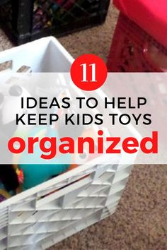 Toy storage hacks and ideas for you living room or kids room. Easy and cheap way to organize your kids toys and creative storage solutions. #hometalk