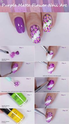 Stunning Flower Nail Art Designs That are Insanely Beautiful Flaunt your manicured floral nails during the spring season. Go through our incredible collection of flower nail art ideas to know what will look best on you. Daisy Nail Art, Floral Nail Art, Daisy Nails, Cute Nail Art, Nail Art Diy, Flower Nails, Cute Nails, Bright Nail Art, Purple Nail Art