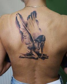 Spooky Tattoos, Tattoos Skull, Mom Tattoos, Sexy Tattoos, Body Art Tattoos, Sleeve Tattoos, Angel Tattoo For Women, Best Tattoos For Women, Back Tattoo Women